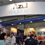 Estande da Azul Viagens atrai centenas de visitantes