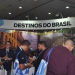 Estande de destinos do Brasil