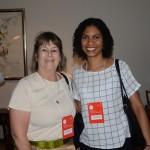 Esther Bourqui, da Senator Turismo, e Carolina Virgolino, da TT Operadora