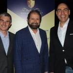 Euclides Gusi, da CBGolfe, Guilherme Paulus, da GJP, e Marcelo Alves, da Riotur