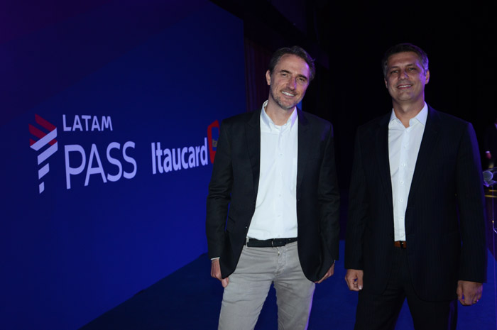 Fernando Amaral, diretor do Itaú Unibanco, e Fabricio Angelin, diretor do Latam Pass