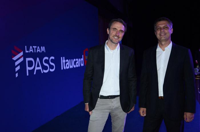 Fernando Amaral, diretor do Itaú Unibanco, e Fabricio Angelin, diretor do Latam Pass