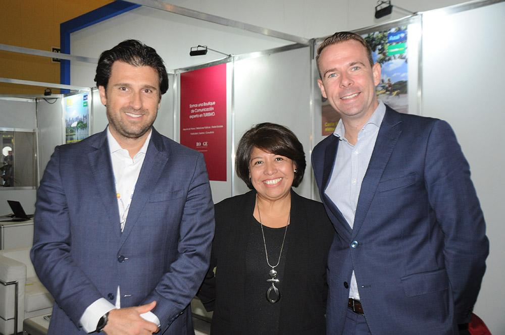 Fernando Gagliardi, Yolanda Trujillo e Markus Haack, do Melia