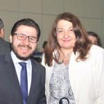 Gilson Lira, secretário-executivo de Turismo da Paraíba, e Magda Nassar, presidente da Abav Nacional