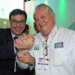 Gilson Machado Neto, presidente da Embratur, e Roy Taylor, do M&E