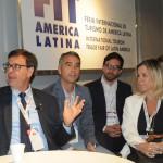 Gilson Machado, da Embratur, Rafael Brito, secretário de Alagoas, Miltinho Vasconcellos, de Alagoas, e Vanessa Mendonça, secretária de Turismo do DF