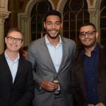 Guilherme Barros, da Air China, Juliano Braga, do M&E, e Kevin Rodrigues, da CNT