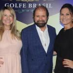 Guilherme Paulus com Viviane Fernandes, do Nice Via Apia, e a modelo Magda Cotrofe