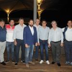 Guilherme Paulus com os jogadores de golfe que participam da etapa neste sábado (26)