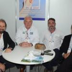 Guilherme Paulus, da GJP, Roy Taylor, do M&E, Gerson Teixeira, do Mar de Canasvieiras Hotel, e Felipe Gonzalez, do Cassino Tour