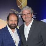 Guilherme Paulus, da GJP e idealizador do torneio, e Carlos Favoreto, presidente do Campo Olímpico de Golfe
