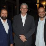 Guilherme Paulus, idealizador do torneio, Carlos Favoreto, presidente do Olympic Golf Course, e Felipe Michel, secretário de Eventos do Rio