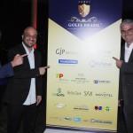 Guilherme Paulus, idealizador do torneio, Felipe Michel, secretário de Eventos do Rio, e Carlos Favoreto, presidente do Olympic Golf Course
