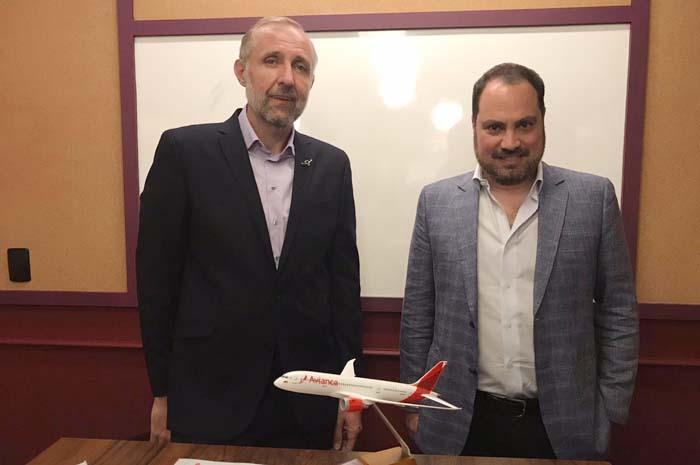 Gustavo Esusy com Nissim Jabiles, diretor Geral da Avianca Holdings para Brasil, Peru e Equador