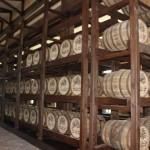 Barris de Rum estocados na fábrica