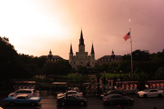 St. Louis Cathedral na praça Jackson em New Orleans