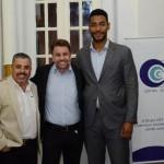 Jorge e André Khouri, da CNT com Juliano Braga, do M&E