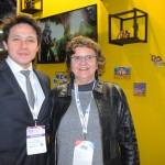 Luiz Costa, da Embaixada do Brasil na Argentina, e Aninha Costa, secretária de Turismo do RN