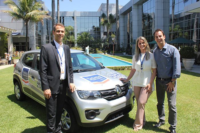 Márvio Mansur, diretor executivo da Flytour Gapnet Consolidadora, Ana Carolina Carvalho, head da Seleto, e Eloi Oliveira, diretor de Marketing do Grupo Flytour