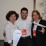 Magda Moraes, João Pin e Christina Binnie, da Lufthansa
