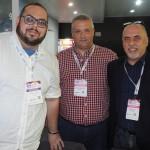 Marcos Amado, da Tourmed, Santiago Ezequiel, da Nuevos Tiempos, e Roberto Cusato, da Tourmed