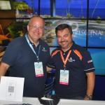 Marcus Vinicius, do Hardmann Praia Hotel; e Jorge Netto, da Flytour