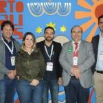 Mario Pilar, Danielly Aguiar, Andre Reis, Sergio Paraiso e Antonio Baptista, de Pernambuco