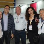Mauricio Sana, Esteban Tossutti e Lucia Guinzo, da Flybondi, com Roy Taylor e Rosa Masgrau, do M&E