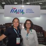 Mirella Morici, da Agência Nacional do Turismo da Itália; e Rosemary Belli, da Alitália