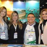 Miriam Silva, Tassia Farias, Thiago Dantas e Andrezza Varela, co-expositores no estande do Rio Grande do Norte