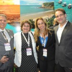 Osvaldo Matos, da Embratur, Aninha Costa, secretária de Turismo do RN, Katja Becker, da Embratur, e Ciro Camargo, da Gol