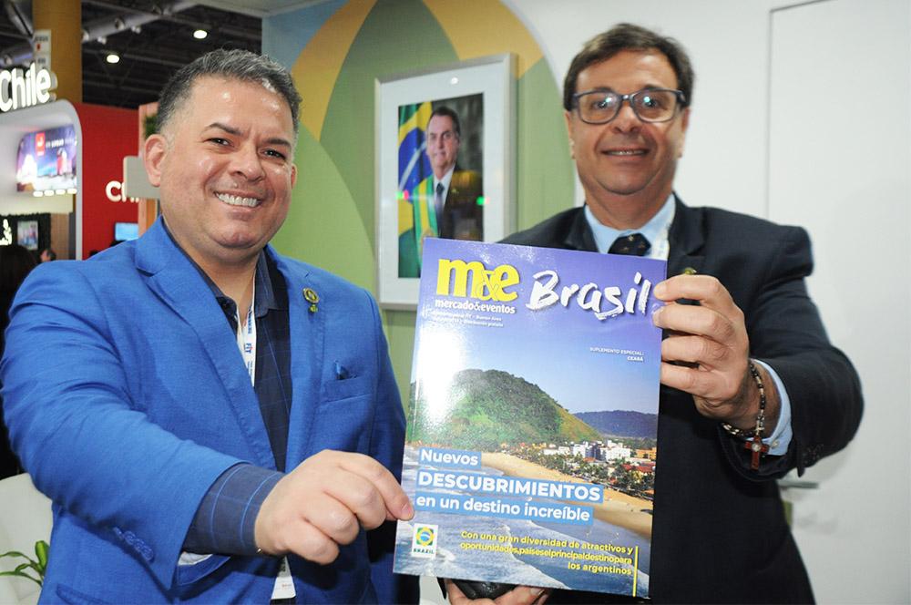 Osvaldo Matos e Gilson Machado Neto, da Embratur