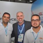 Paulo Lobão, da Air France; Anderson Wolff e Marcelo Lyra, da Gol Linhas Aéreas