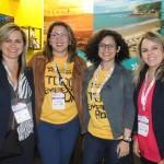 Pollyane dos Reis, Nayara Santana, Bethise Cabral e Cristiane de Castro, do RN