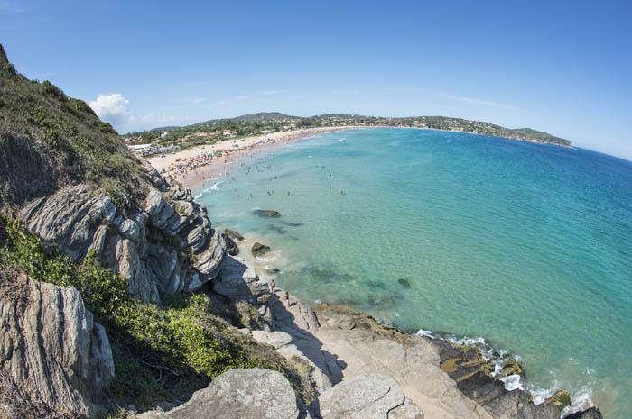 Praia de Geribá, em Búzios, no Rio de Janeiro, é um dos destinos sugeridos pela Seven Seas Mariner, durante o cruzeiro de dez dias com saída de Buenos Aires e chegada no Rio de Janeiro