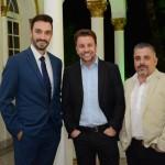 Rafael Monteiro, André Khouri e Jorge Khouri, da CNT