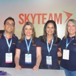 Rafael Santos, Patricia Ricchetti, Tallita Fernandes e Anelise Lazzarotto, da Skyteam
