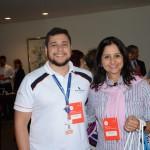 Rafael Santos, da Flytour Viagens, e Glaucia Mattos, da MD Turismo