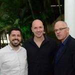 Raphael de Lucca e Marcelo Kaiser, da Aviareps, e Altamiro Medici, da South African Airways