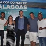 Ricardo Alfredo, com Lilian Amorim e Marcelo Neri, da Azul Center, e os acompanhantes Pedro Neri e Rodrigo Alboledo