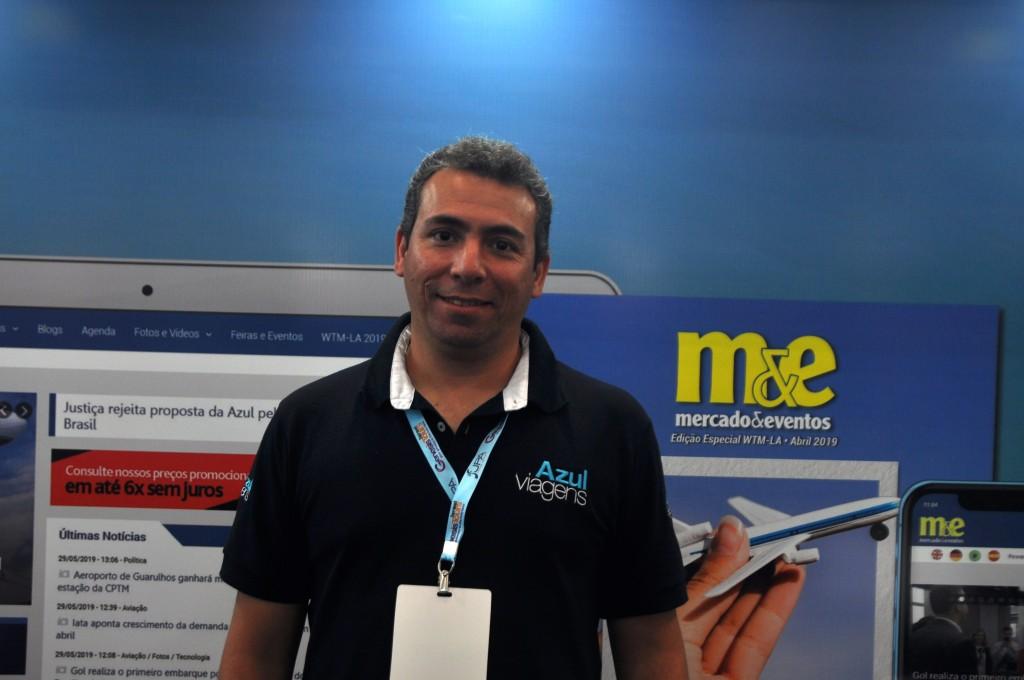 Ricardo Bezerra, gerente comercial da Azul Viagens