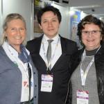 Rosa Masgrau, do M&E, Luiz Costa, da Embaixada do Brasil na Argentina, e Aninha Costa, secretária de Turismo do RN