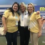 Rosa Masgrau, do M&E, com Ana Paula Azevedo e Lyvia Calheiros, de Maceió