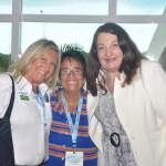 Rosa Masgrau, do M&E, com Cristina Fritsch, presidente da Abav-RJ e Magda Nassar, presidente da Abav Nacional