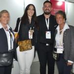 Rosa e Mari Masgrau, do M&E, com Florencia Rose e Cesar Alberto Pessini, do Hotels Co
