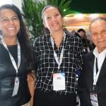 Rosely Andrade, da Rio Cidade Service Tour, Ingrid Videira, do Hotel Nacional, e Erly de Jesus, da Setur-RJ