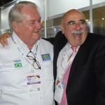 Roy Taylor, do M&E, com Enrique Pepino, diretor da FIT 2019