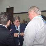 Roy Taylor, do M&E, cumprimenta o governador da Paraíba, João Azevêdo e secretário-executivo de Turismo, Gilson Lira