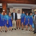 Secretário de Turismo de Maceió, Jair Galvão, e o presidente da ABIH-AL, Milton Vasconcelos, com a equipe da Luck