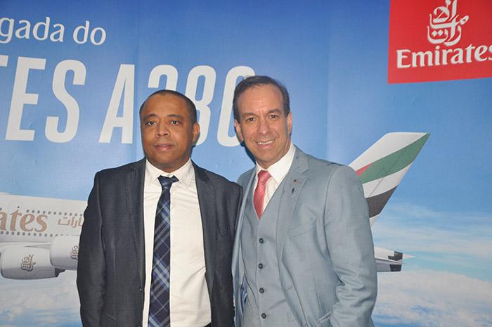 Sthepane Perard, diretor Geral da Emirates no Brasil, e Adrian Ursilli, diretor geral da MSC no Brasil